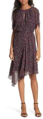 Joie Nacilea Asymmetric Hem Silk Chiffon Dress