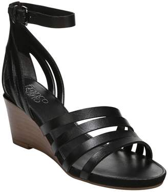 Franco Sarto Leather Platform Wedges - Della