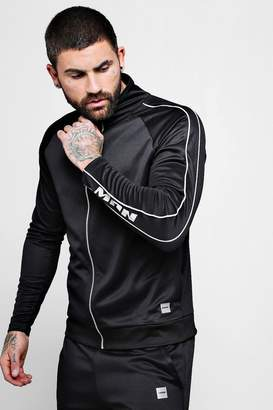boohoo MAN Active Gym Funnel Neck Top