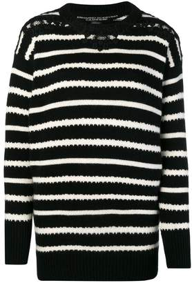 Ermanno Scervino striped knit sweater