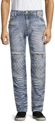 Skinny-Fit Distressed Jeans