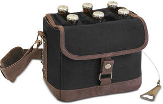 Picnic Time Beer Caddy Black & Brown Cooler Tote with Opener