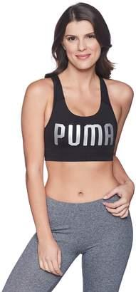 Puma Women's Powershape Forever Sports Bra, Black/White Cat
