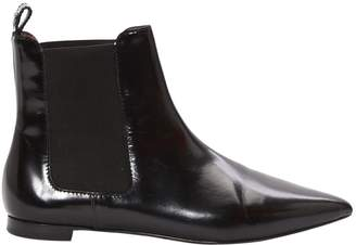 Twin-Set Twin Set Black Leather Ankle boots