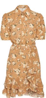 Michael Kors Tiered Ruffle Silk Shirtdress