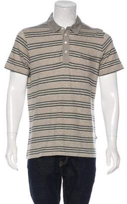 Billy Reid Cashmere-Blend Striped Polo Shirt w/ Tags