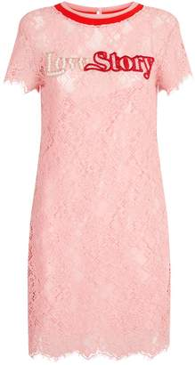 Pinko Embellished Lace Dress
