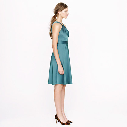 J.Crew Sinclair halter dress in tricotine