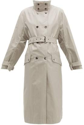 Isabel Marant Tatiana Press Studded Long Cotton Trench Coat - Womens - Beige