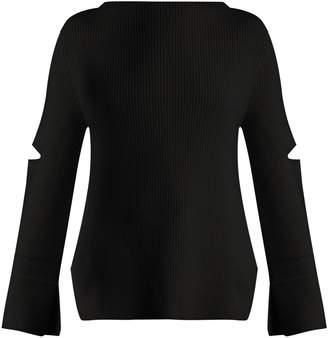 Stella McCartney Boat-neck ribbed-knit wool sweater