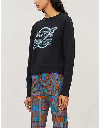 Rag & Bone 'Outer Space' embroidered cotton sweatshirt