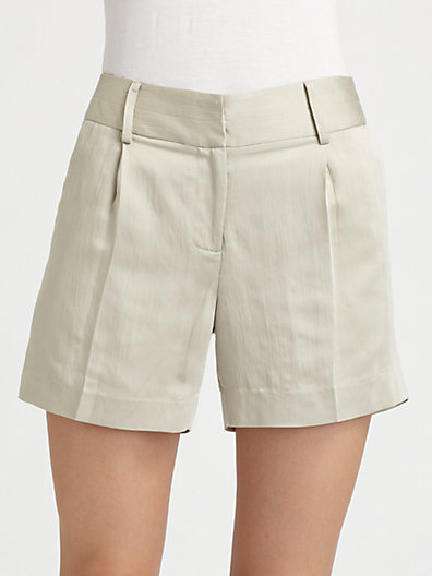 Milly Tailored High-Waisted Shorts