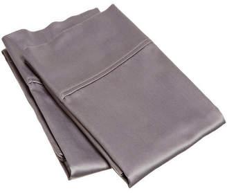Home City Inc Superior 400 Thread Count Premium Combed Cotton Solid Pillowcase Set - Standard Bedding