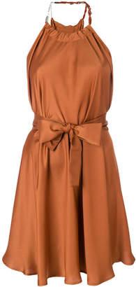 Pinko tie waist halterneck dress