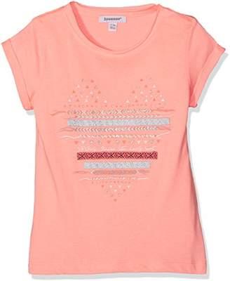 3 Pommes Girl's Neon Beach T-Shirt,(Manufacturer Size:3Y/4Y)