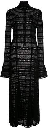 Oscar de la Renta turtleneck knitted dress