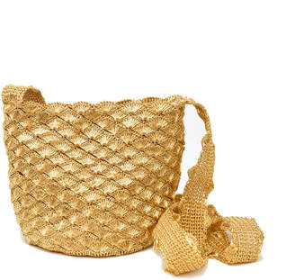 Cooperativa Shop Verdi Design Gold Seashell Bucket Bag