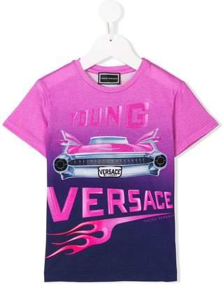 Versace (ヴェルサーチ) - Young Versace car motif T-shirt