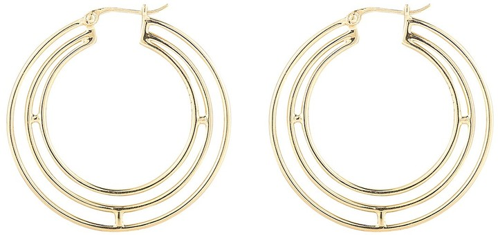 Elizabeth And James Elizabeth and James Berlin Triple Ring Hoop Earrings