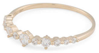 Made In Usa 14k Gold Cz Stacking Ring