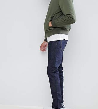 Burton Menswear TALL Tapered Jeans In Dark Wash Blue