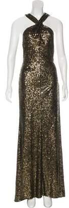 Naeem Khan Sequin Evening Dress