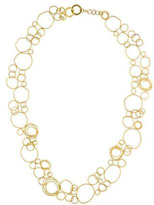18K Interlocking Circle Chain Necklace
