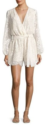 Loveshackfancy Bowie Long Sleeve Lace Playsuit, White $425 thestylecure.com