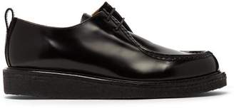 Ami High Shine Leather Derby Shoes - Mens - Black