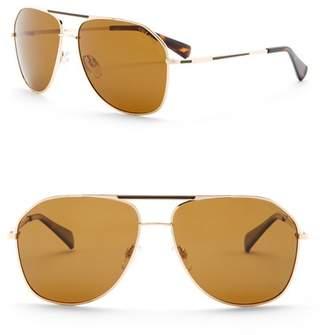 Cole Haan Metal Aviator 60mm Sunglasses (Men)