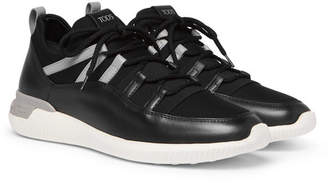 Tod's Leather and Neoprene Sneakers - Men - Black