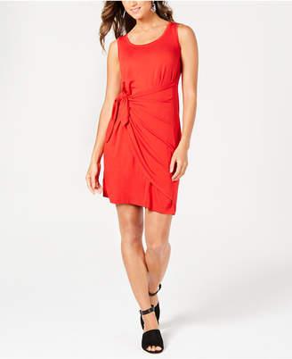 Style&Co. Style & Co Petite Knot-Front Knit Tank Dress