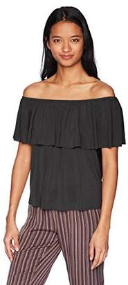 LIRA Women's Naomi Cold Shoulder Basic Top
