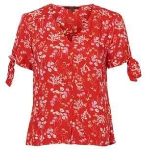 687e107a8ccefe Vero Moda Lotus Printed Button-Down Shirt