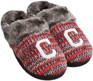 Women's Forever Collectibles Cleveland Indians Peak Slide Slippers