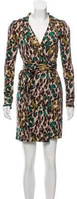 Diane von Furstenberg Printed Silk Wrap Dress