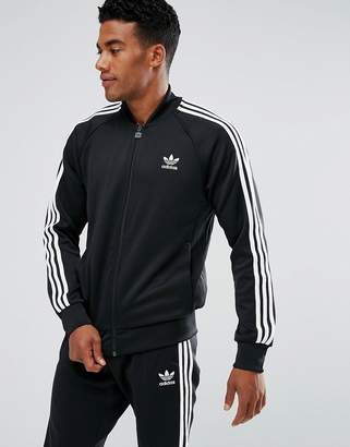 adidas Superstar Track Jacket In Black Bk5921