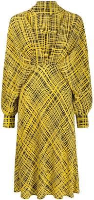 Cavallini Erika silk dolman-sleeves dress