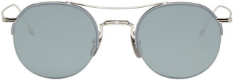Thom Browne Silver TB 903 Sunglasses $575 thestylecure.com