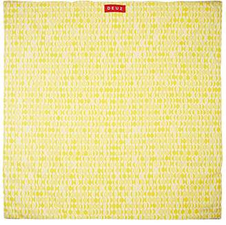 DEUZ Leaf-Print Organic Cotton Floor Mat