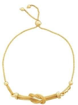 Lord & Taylor 14K Yellow Gold Mesh Knot Bracelet