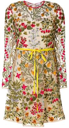 RED Valentino floral lace overlay dress