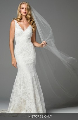 Women's Watters Millais Lace Mermaid Gown $2,675 thestylecure.com