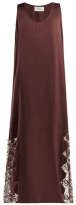 Icons Violet Silk Maxi Dress - Womens - Burgundy