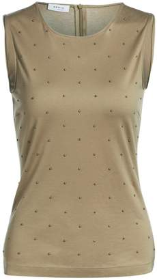 Akris Punto Studded Jersey Sleeveless Top