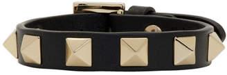 Valentino Black Garavani Single Rockstud Bracelet