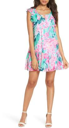Lilly Pulitzer R) Nora Ruffle Chiffon Shift Dress