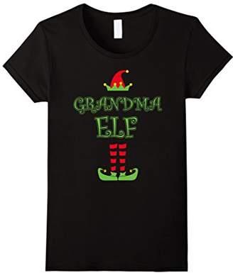 Women's Grandma Elf Christmas T-Shirt