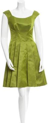 Zac Posen Pleated A-Line Dress