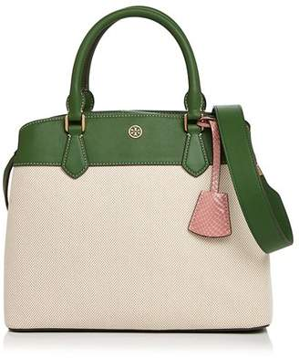 Tory Burch Robinson Canvas Color-Block Tote